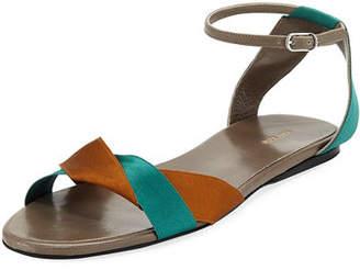The Row Colorblock Ribbons Flat Sandal