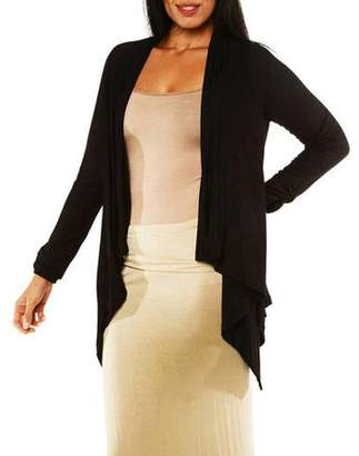 24/7 Comfort Apparel Women's Long Sleeve High-Low Shrug