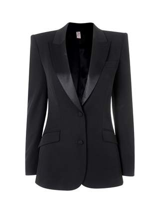 Agent Provocateur Teo Jacket In Black Wool With Silk Lining