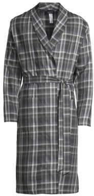 Hanro Loran Plaid Robe