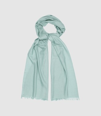 Reiss IRIS LIGHTWEIGHT PASHMINA Duck Egg