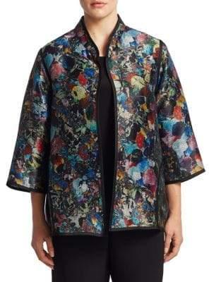 Caroline Rose Plus Contrast Piping Jacket