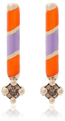 Alice Cicolini 14k white gold memphis candy earrings