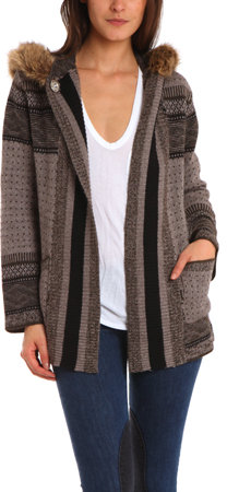 12th St. by Cynthia Vincent Hooded Cardigan