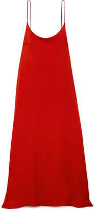 Mansur Gavriel Silk-charmeuse Maxi Dress - Red