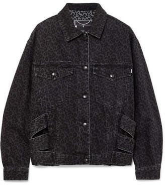 McQ Leopard-print Denim Jacket - Black