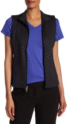 Peter Millar Diamond Laser-Cut Full Zip Vest $98.50 thestylecure.com