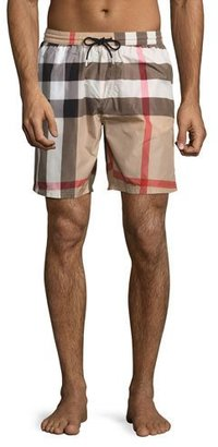 Burberry Gowers Check Swim Trunks, Camel $295 thestylecure.com