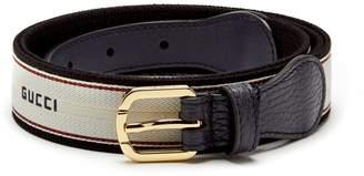 Gucci Logo-jacquard belt