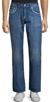 True Religion Straight-Leg Flap Pocket Jeans