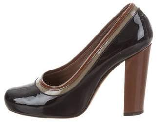 Marni Patent Leather Round-Toe Pumps