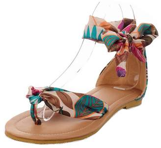 Michael Palmer T Strap Colorful Beach Flat Sandals Shoes Women Summer Leisure Shoes 9