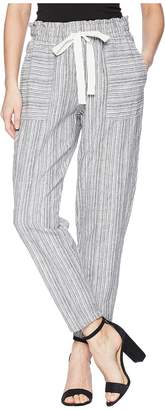 Vince Camuto Slim Leg Pull-On Drawstring Stripe Pants Women's Casual Pants