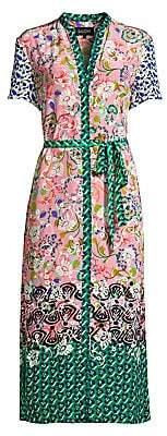 Saloni Women's Vicki Mixed Placement Print Dress