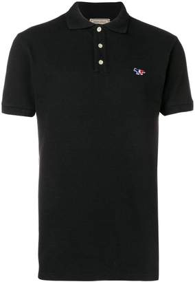 MAISON KITSUNÉ tricolor fox polo shirt