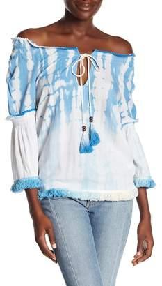 AMERICA & BEYOND Ombre Tie Dye Blouse