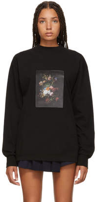 Palm Angels Black Flower Pot Long Sleeve T-Shirt