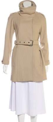 Cacharel Wool-Blend Coat Tan Wool-Blend Coat
