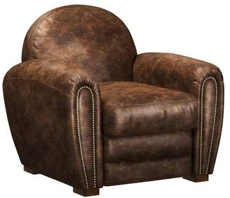 Brikk Pomona Industrial Brown Leather Club Chair