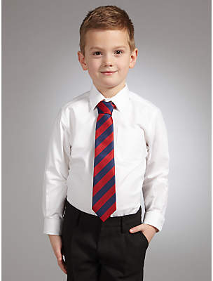 John Lewis Boys' Oxford Long Sleeved Pure Cotton School Shirt, White