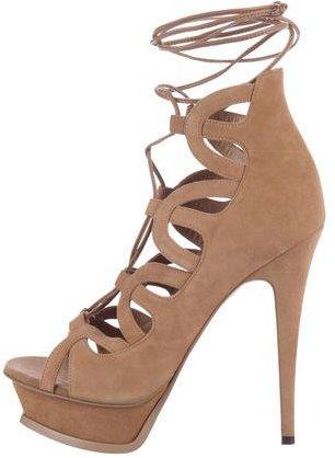 Saint LaurentSaint Laurent Suede Platform Sandals