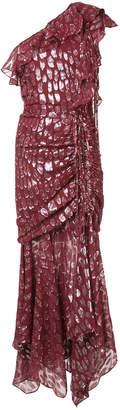 Veronica Beard leopard patterned asymmetric dress