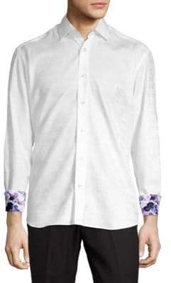 Butterfly Button-Front Shirt