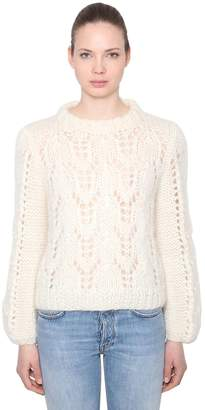 Ganni Julliard Mohair & Wool Knit Sweater