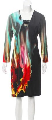 Just Cavalli Printed Knee-Length Dress w/ Tags