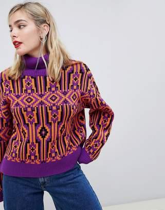 Asos (エイソス) - Asos Design ASOS DESIGN sweater in retro pattern