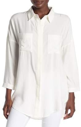 SKYLAR ROSE Button Front High/Low Tunic Shirt
