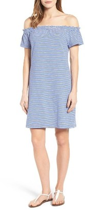 Women's Vineyard Vines Off The Shoulder Stripe Dress $98 thestylecure.com
