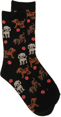 K. Bell Playing Dogs Crew Socks - Women's