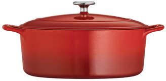 Tramontina Gourmet Enameled Cast Iron 7 Qt. Enameled Cast Iron Oval Dutch Oven
