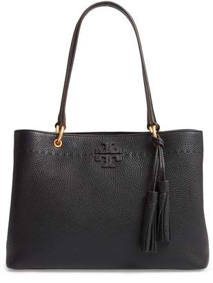 At Nordstrom Tory Burch Mcgraw Triple Compartment Leather Satchel