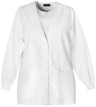 Cherokee Women's Professional Whites Button Front Warm-Up Jacket