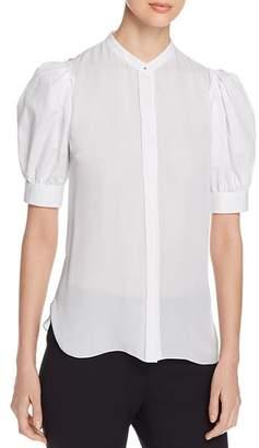 Elie Tahari Kalila Puff-Sleeve Shirt