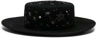 Ruslan Baginskiy Constellation Hat in Black | FWRD