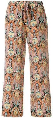 Etro bohemian print trousers
