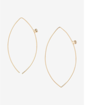 Express Rhinestone Pull Through Earrings $16.90 thestylecure.com