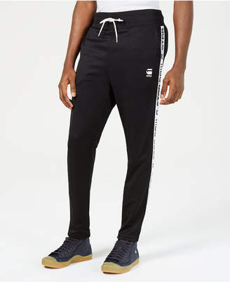 G Star Mens Logo-Taped Cropped Track Pants