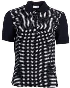 Akris Punto Polka Dot Polo Tee