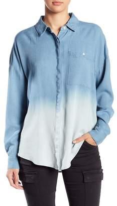Splendid Ombre Boyfriend Button Down Shirt