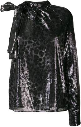 MSGM sequined one-shoulder dress