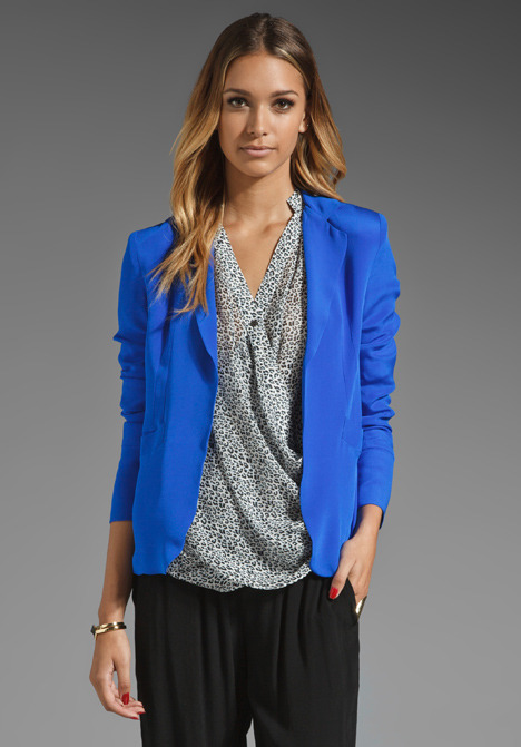 Oversized Silk Blazer
