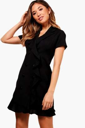 boohoo Beatrix Frill detail Blazer Dress