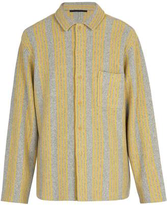 Haider Ackermann Wool and cashmere-blend knitted shirt