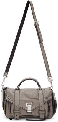 Proenza Schouler Grey PS1and Tiny Zip Messenger Bag