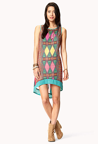 Forever 21 Chiffon Batik Dress