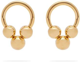 Jil Sander Hoop Stud Earrings - Womens - Gold